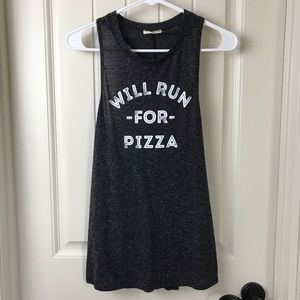Will Run For Pizza Workout Tank